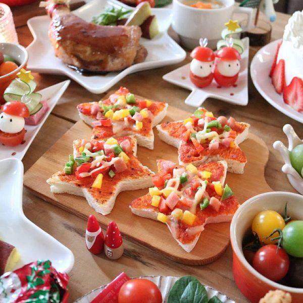 可愛い料理!すぐにできる星のピザ
