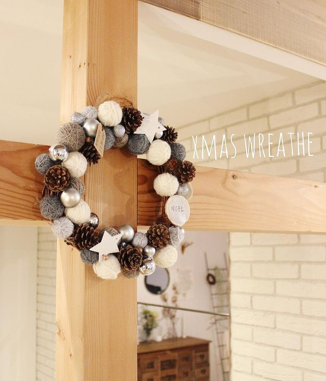 クリスマス飾り手作りリース3