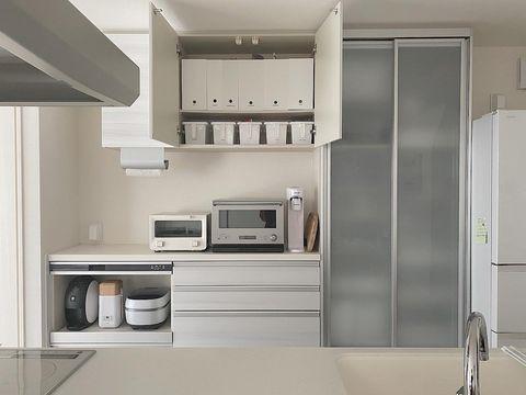 キッチン吊戸棚を使いやすくするアイデア収納