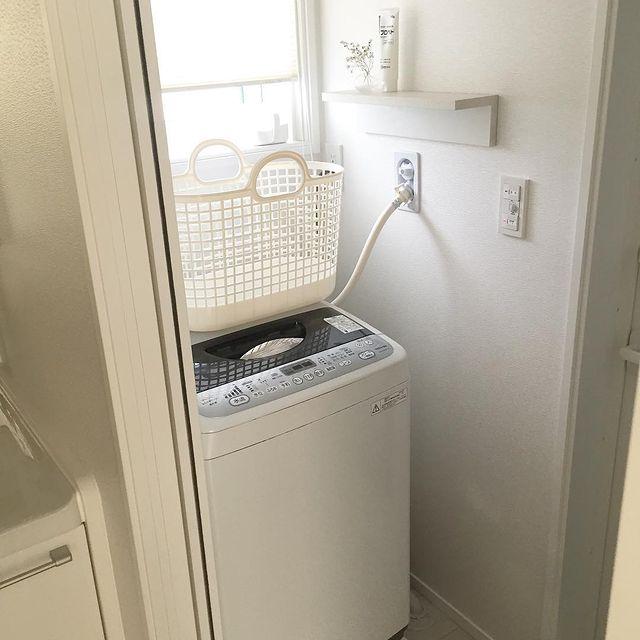 無印の洗濯機周りの収納15
