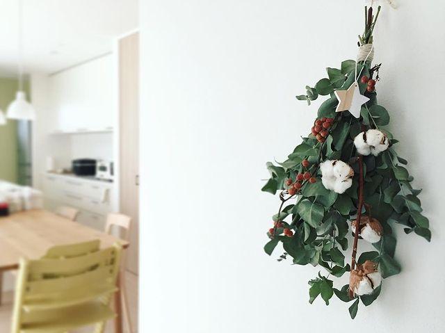 クリスマス飾り手作りスワッグ2