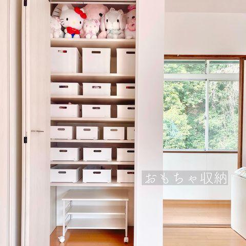 クローゼットや押入れの枕棚・最上段を活用した収納