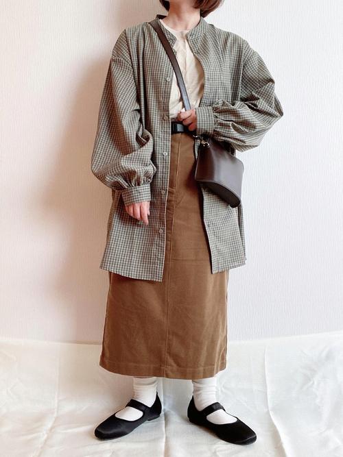 無印良品のブラウンタイトスカート