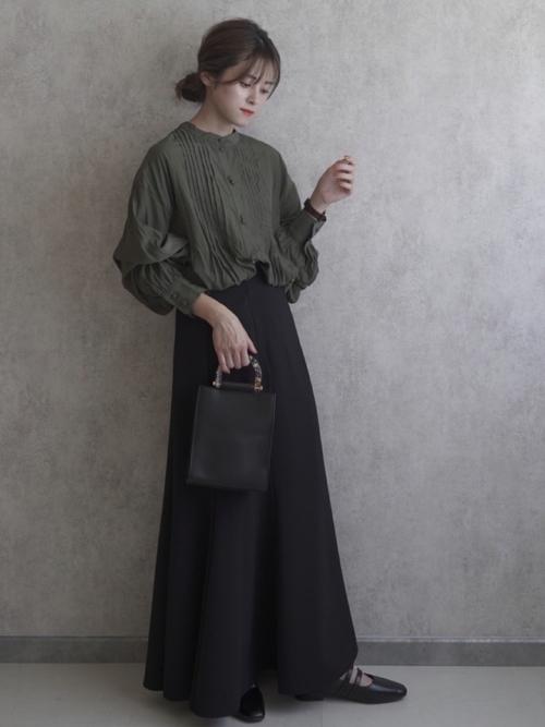 [CAPRICIEUX LE'MAGE] 〈新色追加/アイボリー・モカ・ベージュ〉ストレッチハイウエストマーメイドスカート
