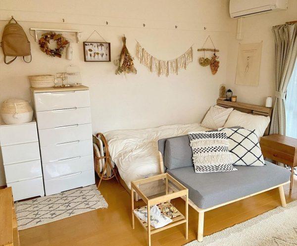 ワンルームの家具配置4