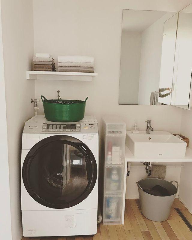 無印の洗濯機周りの収納11