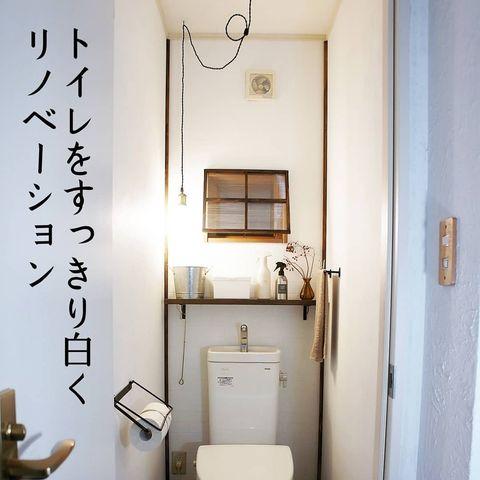 シンプルなボックス×木製棚の収納アイデア