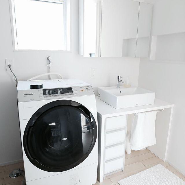 無印の洗面台下収納13