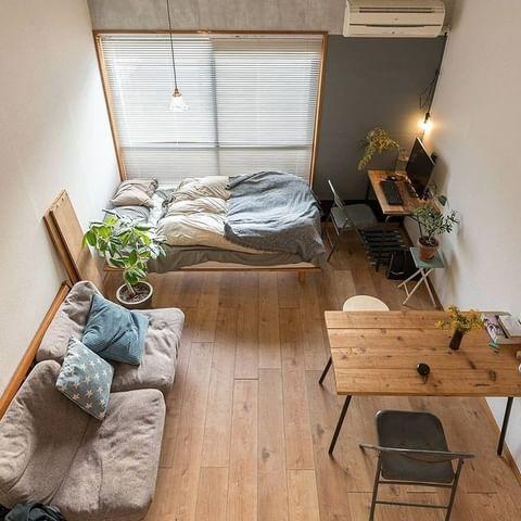 ワンルームの家具配置2