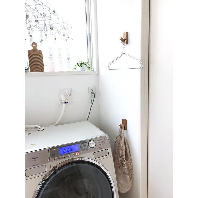 無印の洗濯機周りの収納14