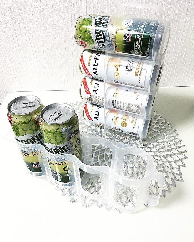 缶飲料のストックに缶ストッカー