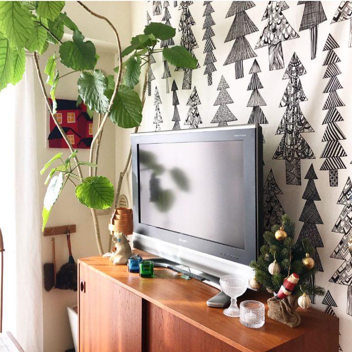 北欧ファブリックのクリスマス飾り付け方法
