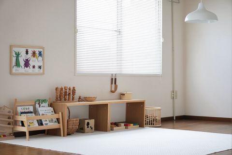 コの字の家具でおもちゃを収納