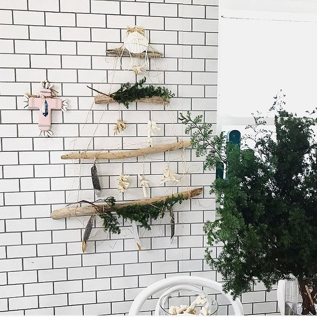 クリスマス飾り手作り流木