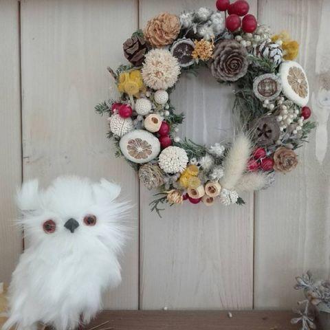 手作りクリスマスリース11