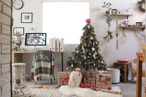 クリスマス飾り手作りツリー2