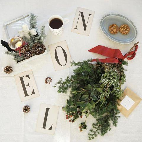 クリスマス飾り手作りスワッグ