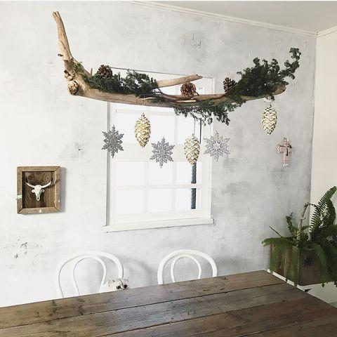 クリスマス飾り手作り流木3