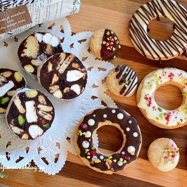 ドーナツのような見た目のデコレーションクッキー