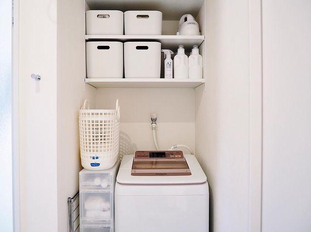 無印の洗濯機周りの収納3