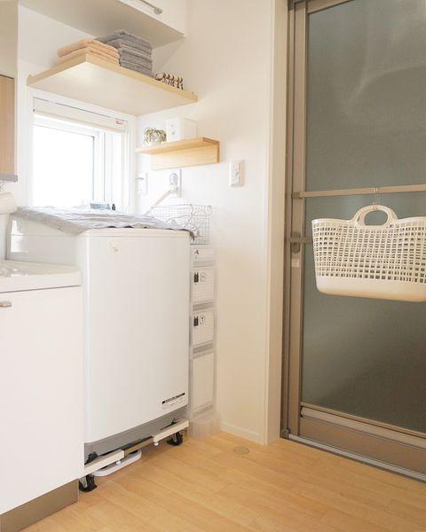 無印の洗濯機周りの収納13