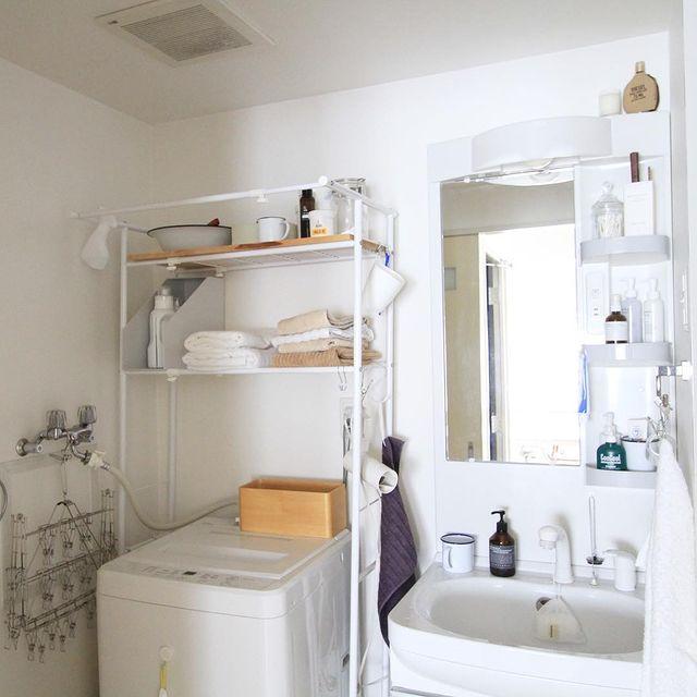 無印の洗濯機周りの収納2