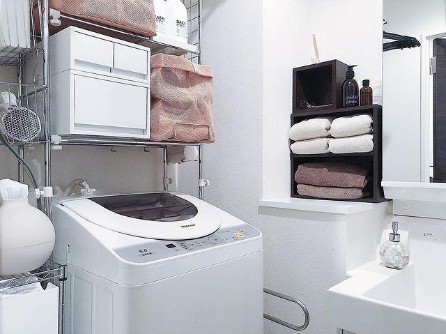 無印の洗濯機周りの収納12