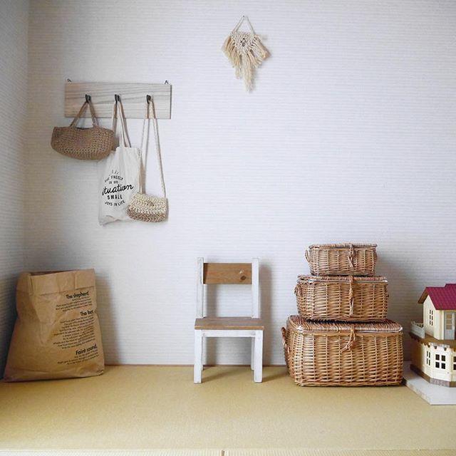 ふた付きの籠を使ったアイデア実例
