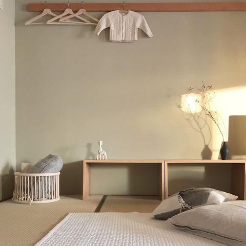和室にコの字の家具