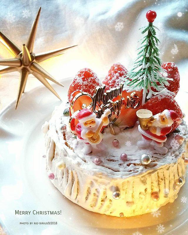 小さく可愛い大豆粉のクリスマスケーキレシピ