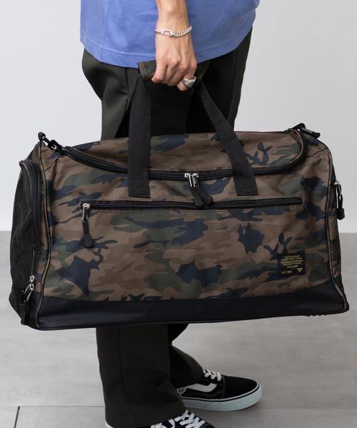 ジム用品がまとめて持ち運べるボストンバッグ