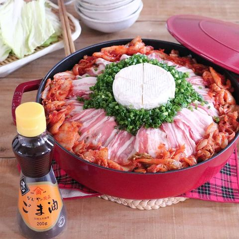 カマンベールチーズキムチ鍋