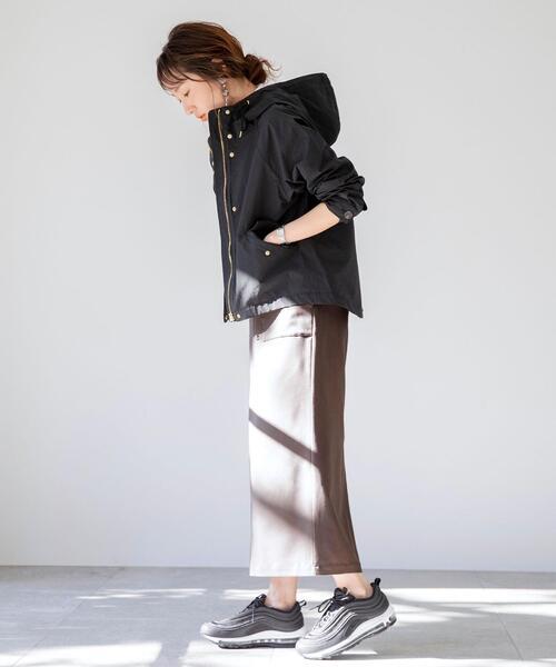 [coen] 【WEB限定】ストレッチカラーペンシルスカート