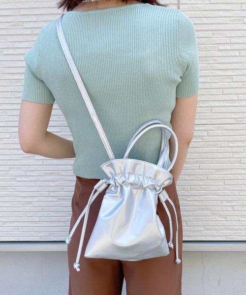 [Outfitter lab] 2WAY 巾着 ミニショルダー バッグ
