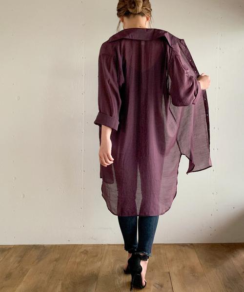 10月中旬の服装|ロングシャツ×スキニーパンツ