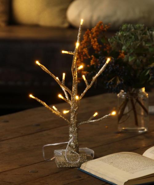 [SPICE OF LIFE] クリスマス LEDスリムブランチツリー ミニサイズ 30cm リモコン付 乾電池/USB 2WAYバッテリー式