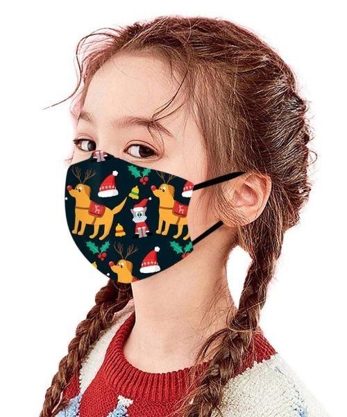 子供用 クリスマスデザインプリントマスク
