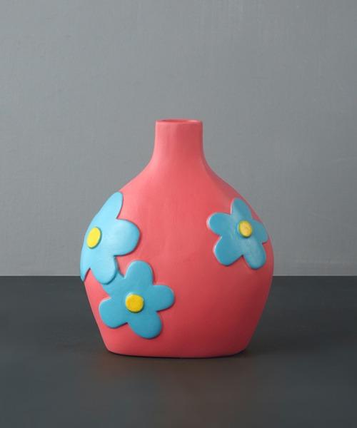 [aimoha] カラフルなお花の陶器花瓶