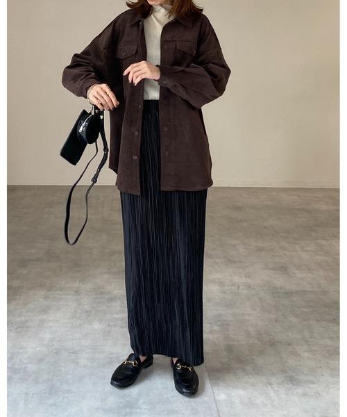 [wears] iライン細プリーツロングスカート