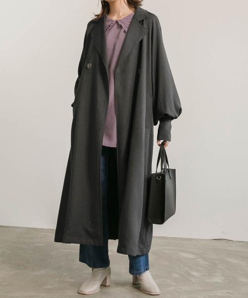 10月下旬の服装|トレンチコート×デニムパンツ