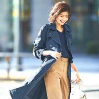 《40代》大人女性のトレンチコートコーデ。2021秋の着こなし方をレクチャー