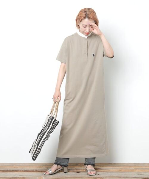 10月初旬の服装|シャツワンピース×デニム