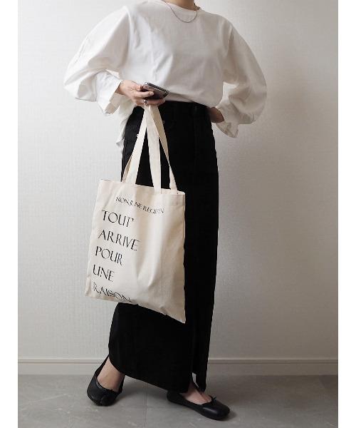 [ISOOK] Black denim pencil skirt / ブラックデニムペンシルスカート (mi select)