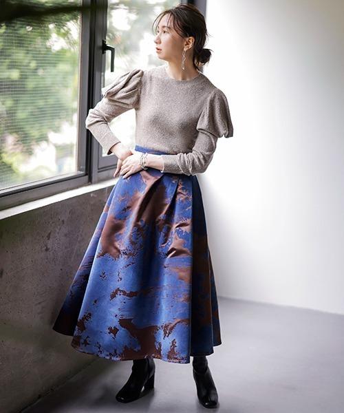 [FRAY I.D] シャンブレーフロッキースカート