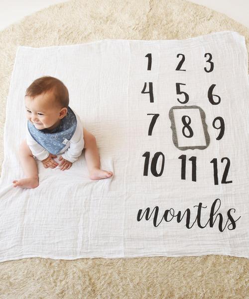 [babybaby] 【Mud Pie/マッドパイ】マイルストーン ブランケットセット