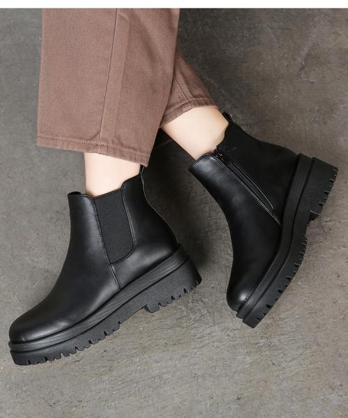 【Shoes in Closet】サイドゴア ショートブーツ