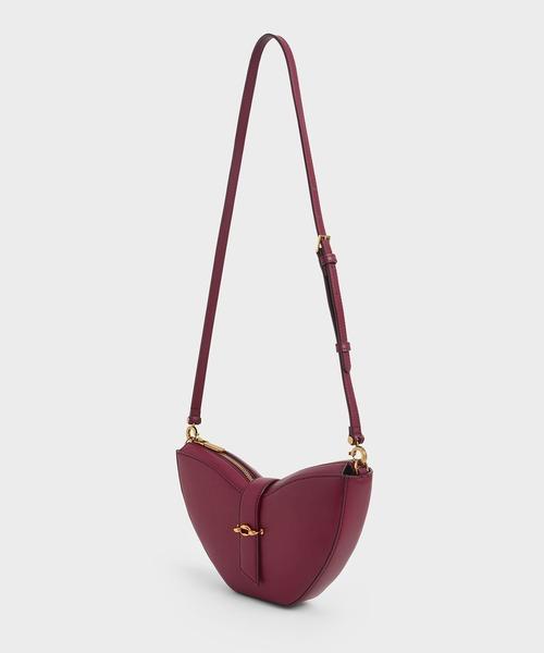 [CHARLES & KEITH] チェーンハンドル スカルプチャーバッグ / Chain Handle Sculptural Bag