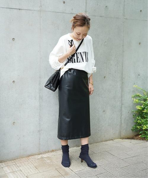[Deuxieme Classe] P-leather タイトスカート