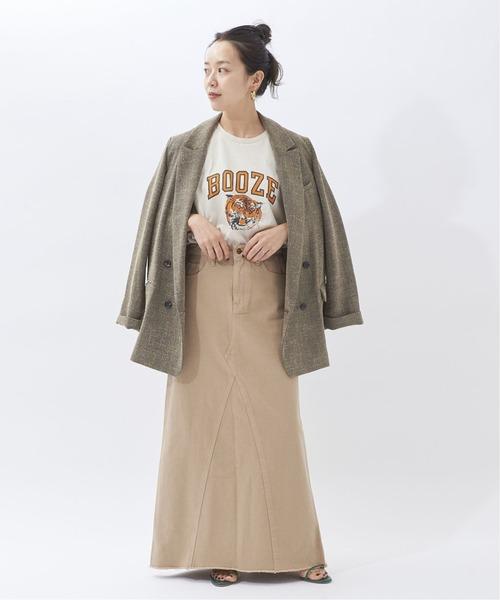 ツイードジャケット×Aラインスカート