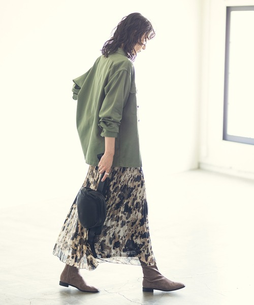 [Gready Brilliant] レオプリーツマキシスカート